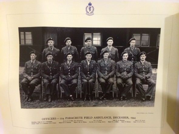 The Officers of 224 Parachute Field Ambulance, December-1944